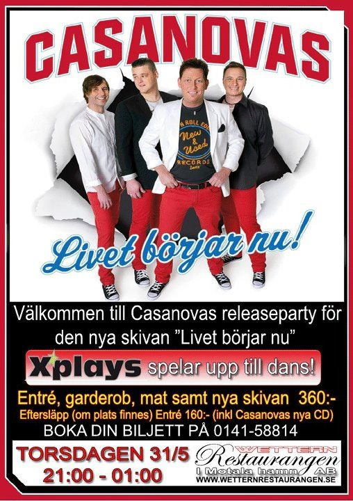 Casanovas releaseparty