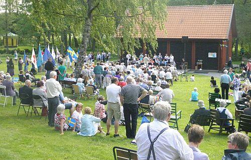 Nationaldagsfirande vid Hembygdsgården i Kristinehamn
