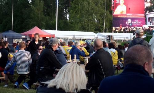 Många ville se Sveriges match
