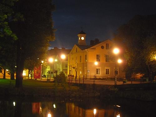 Nattbild från Kristinehamn