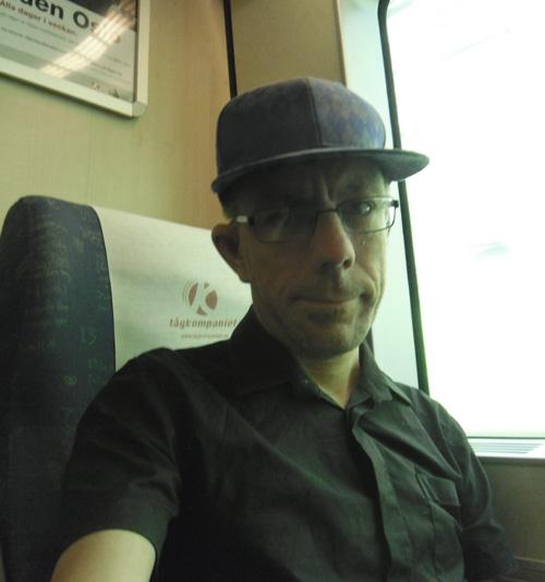 Jag i tåget på väg mot Kil