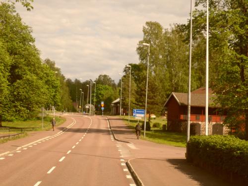 På väg mot Björneborgs centrum