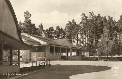 En gammal bild från Karskoga Folkets Park