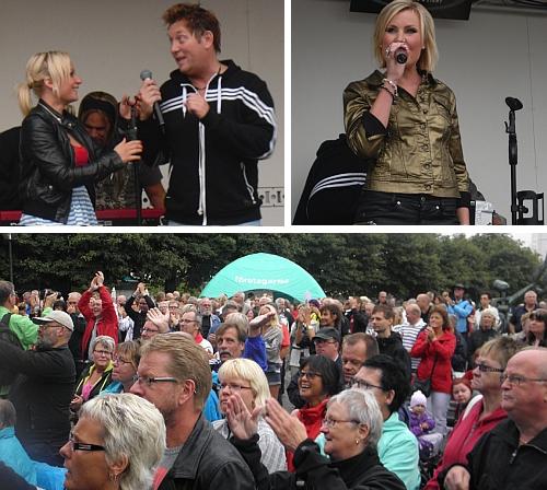 Maria, Elisa, Henrik och publik