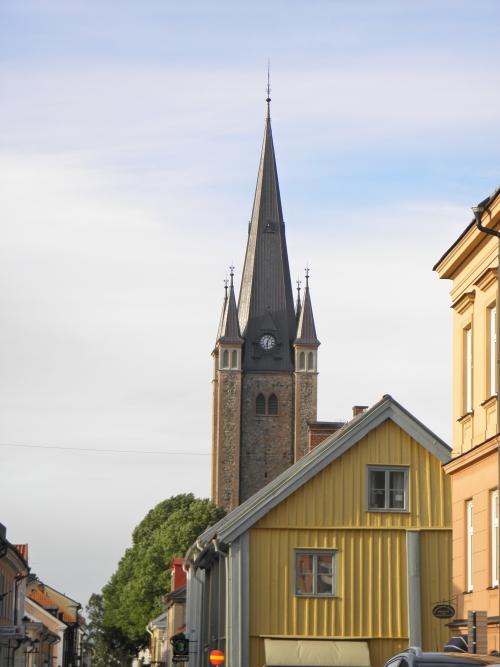 Stadsvy med Kyrkan Mariestad