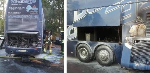 Kindbergs i bussbrand