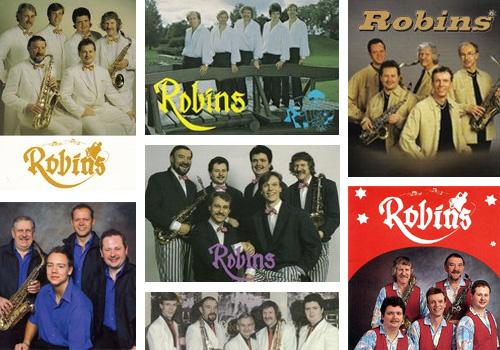 Ett collage gjort av ett urval av Robins orkester