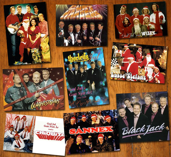 Dansbandens olika julkort