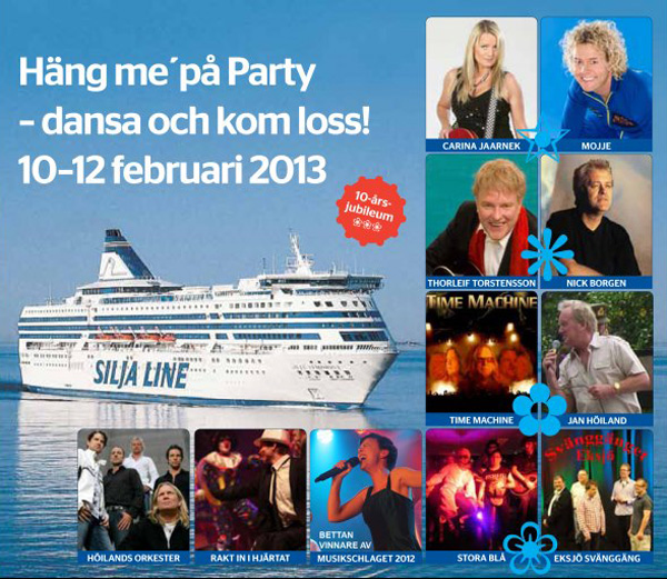 Dansfest på Silja Line