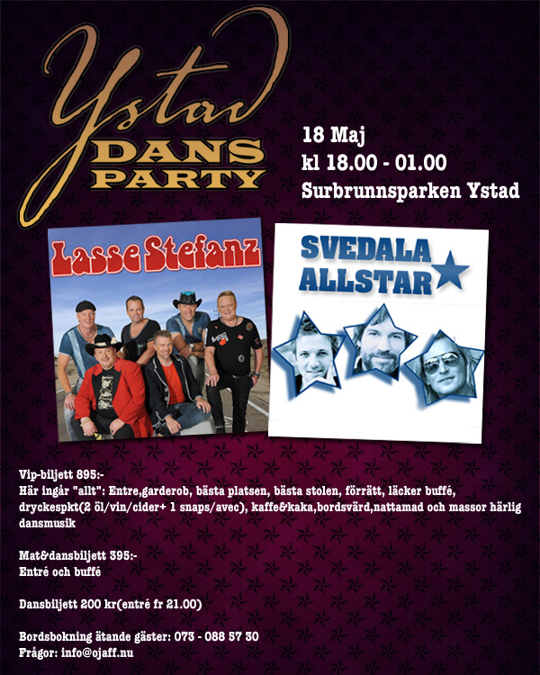 Dansparty i Ystad