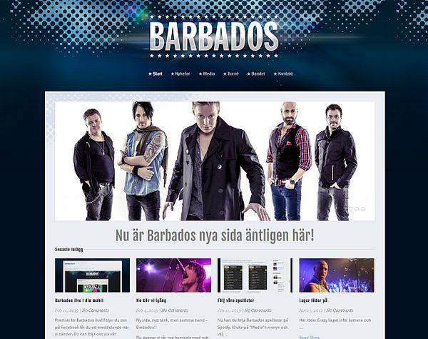 Barbados med ny hemsida