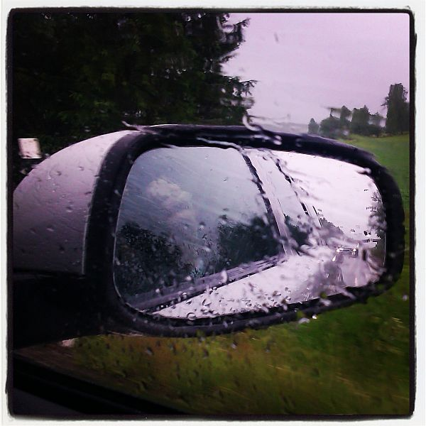 Regnet det vara öser ner