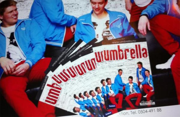 Umbrella orkesterkort och affisch