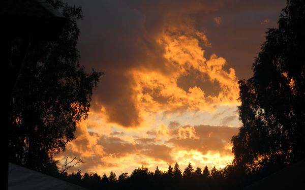 Skådespel på himlen i Ransäter