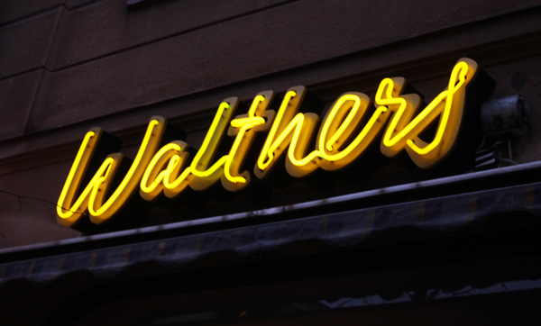 Walthers - Härlig enonskylt