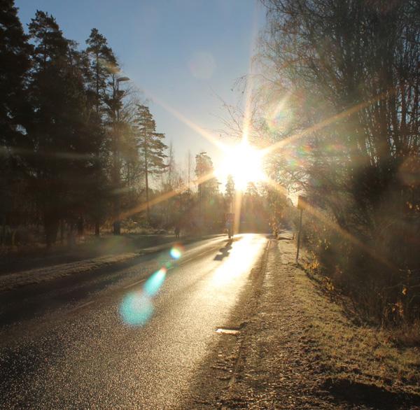 En fin frostig morgon