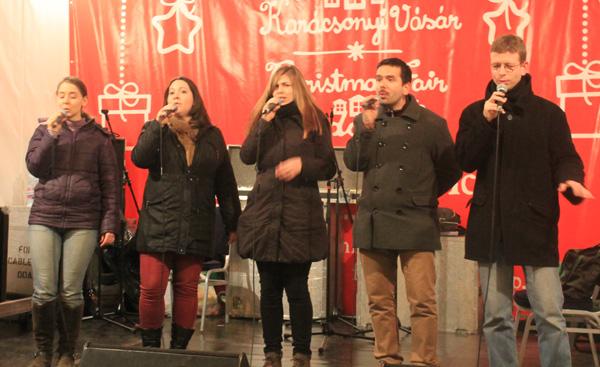 Skönsång på Julmarknaden