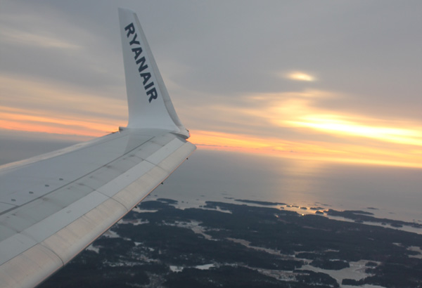 Utsikt från planet. Sverige