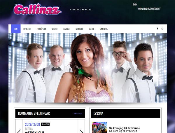 Callinaz med ny webbplats
