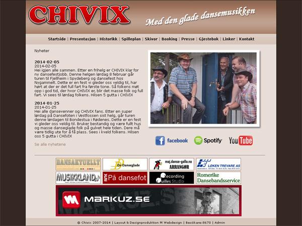 Chivix med ny hemsida