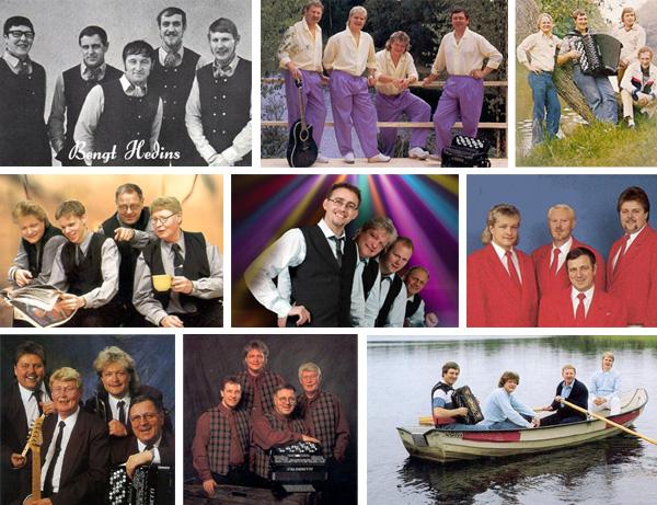 Diverse bilder på bandet