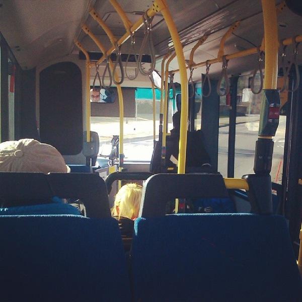 Kul att åka buss till jobbet