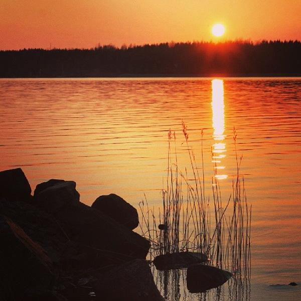 Solnedgång vid Marieberg