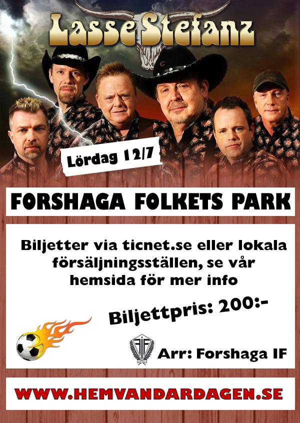 Hemvändardag i Forshaga med Lasse Stefanz