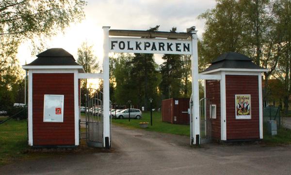 Entrén till Folkparken i Degerfors