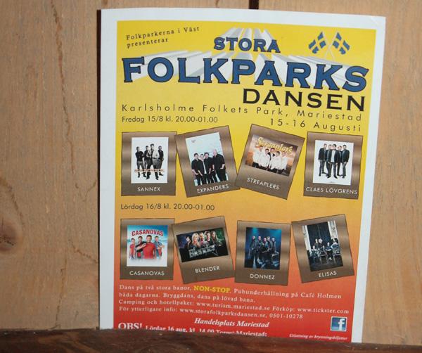 Gjorde så klart reklam för Stora Folkparksdansen i Mariestad