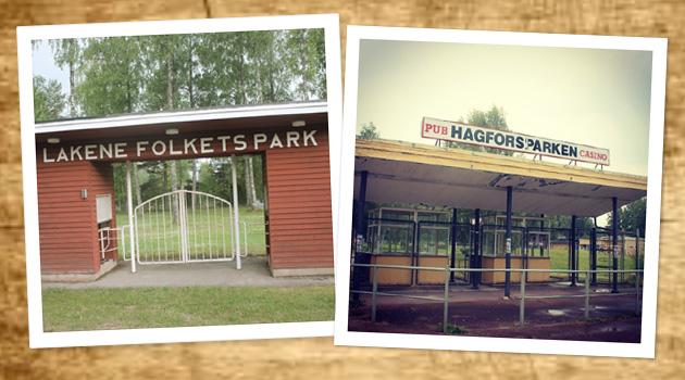 Lakene Folkets Park och Hagforsparken