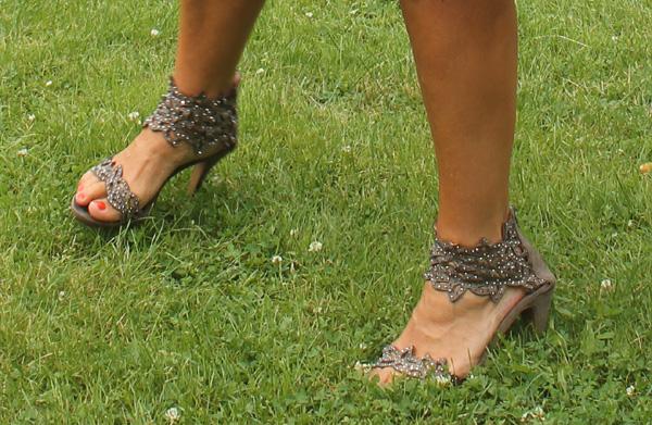 Christinas skor som åkte av efter 2 låtar