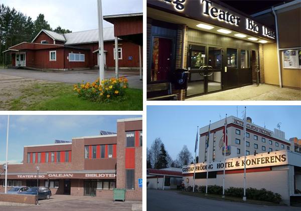 Bild på olika dansställen i Värmland