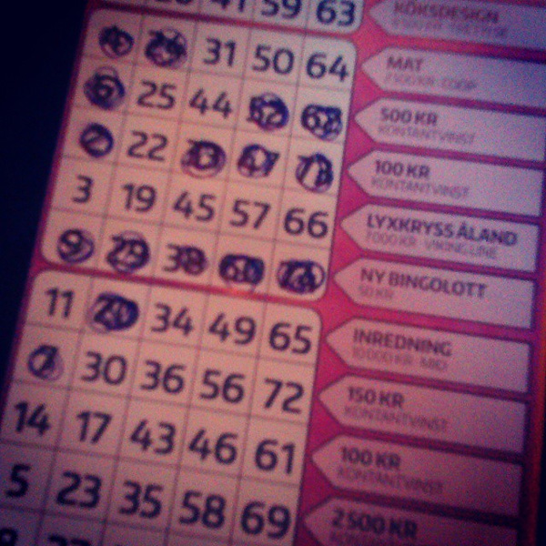 Jag vann på Bingolotto