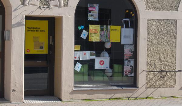 Vänsterpartiets lokal på norra Kungsgatan