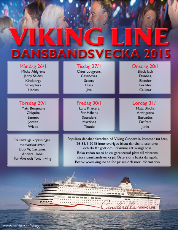 Cinderellas dansbandsvecka 2015