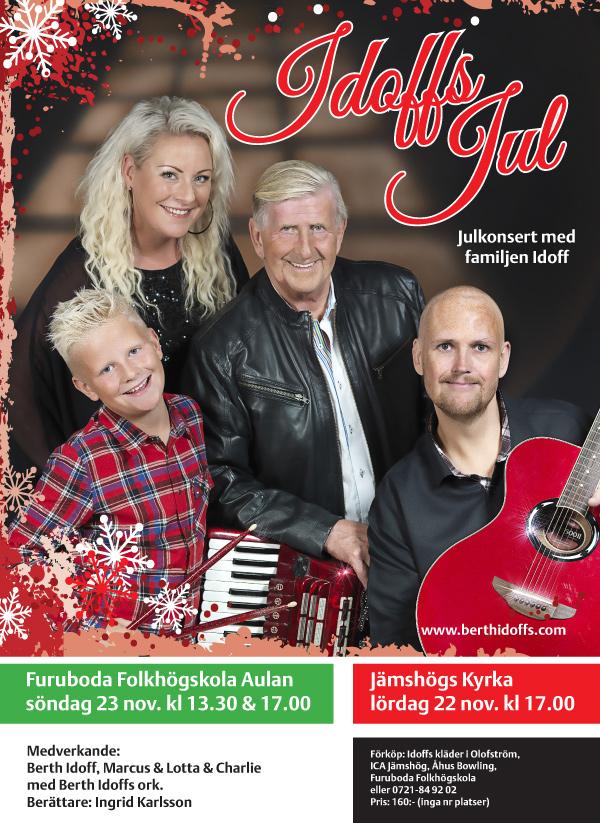 Julkonsert med familjen Idoff