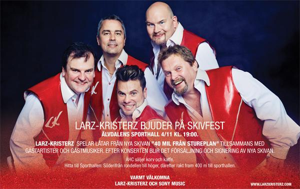 Releasefest med Larz Kristerz