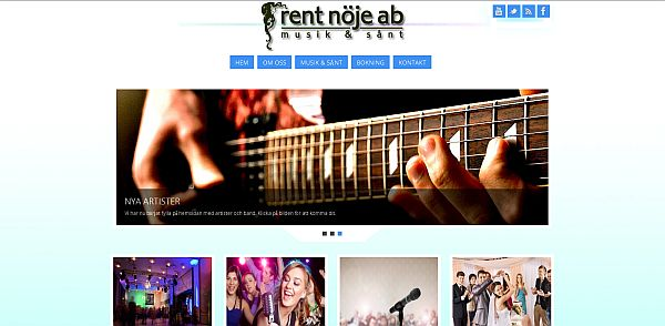 Rent Nöje med ny hemsida