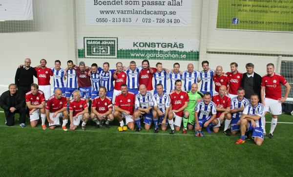 Gruppbild på spelare