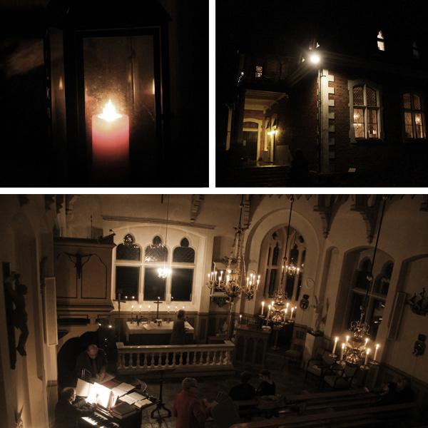 Midnattsmassa i Österviks Kapell