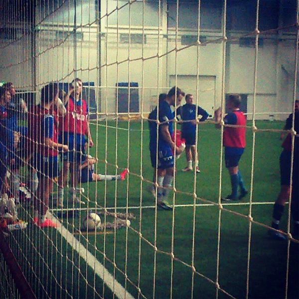 På Fotbollsträning med IFK Ölme