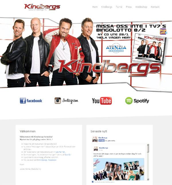 Kindbergs med ny hemsida