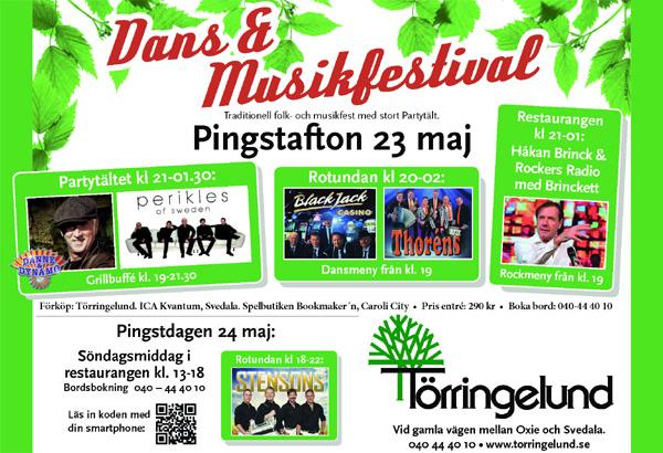Dans och Musikfestival på Törringelund