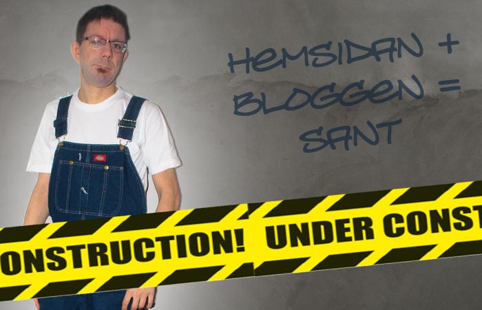 Hemsidan + bloggen = sant