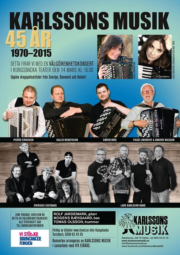 Karlssons Musik firar med välgörenhetskonsert