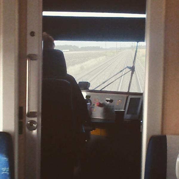 På väg mot Karlstad med tåg