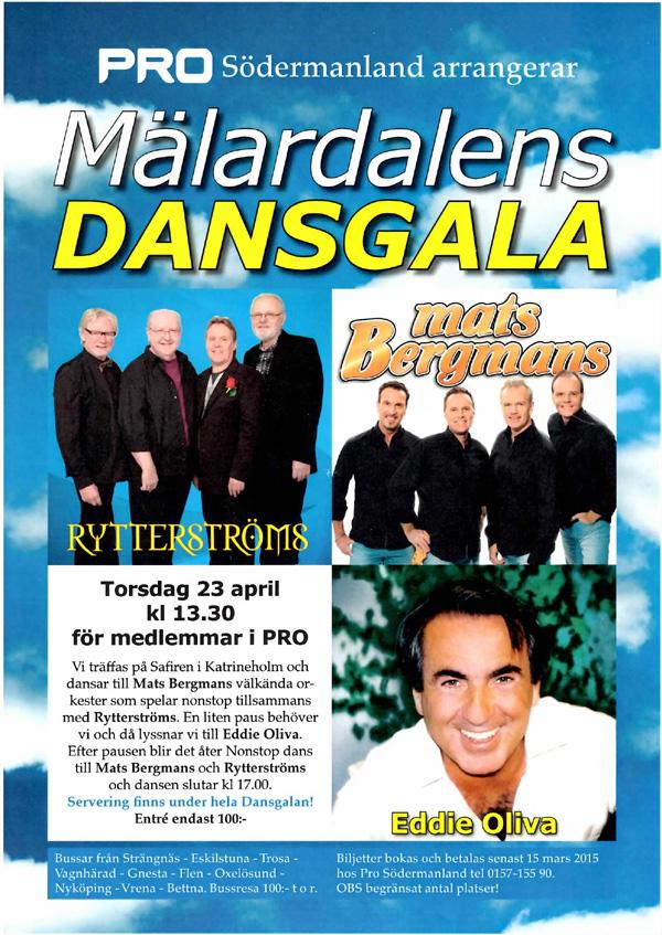 PRO Sörmland arrangerar Mälardalens Dansgala