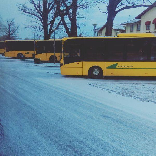 På vä mot jobbet med de gula. #jobba #vä #nobina #å #kristinehamn